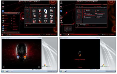 Red Alienware Skin Pack ~ Windows 7 Themes Windows 7