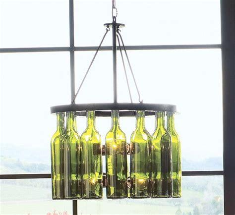 glass bottle chandelier diy home design ideas