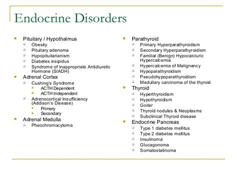 parathyroid glands located endocrine disorders pituitary