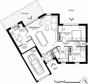 Plan Maison U : plan maison en v avec 2 chambres ooreka ~ Dallasstarsshop.com Idées de Décoration