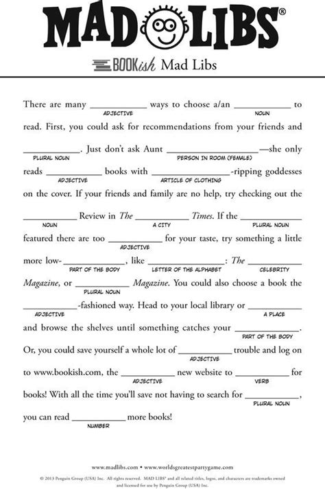 mad libs for search s kid for and search