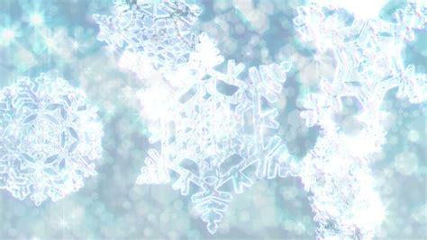 Glitter Snowflake Background by Big Snowflakes Loop With Sparkly Defocused Snow
