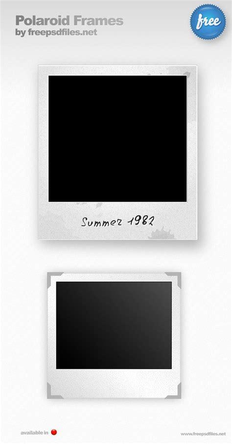 polaroid photoshop template polaroid psd photo frames vector graphic 365psd
