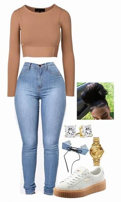 Outfits Summer Polyvore Swag Baddie Lit Teens