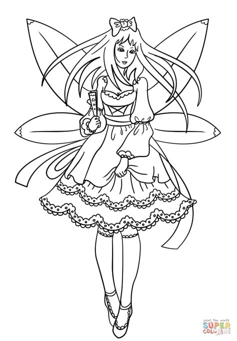 Gothic Fairy coloring page Free Printable Coloring Pages