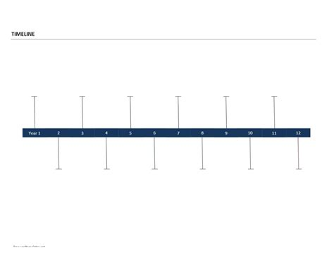 Timeline Template Timeline Template Word Template Business