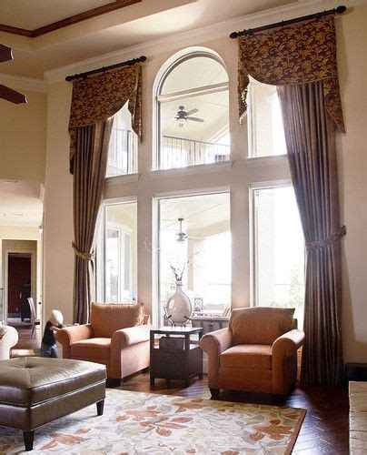 traditional living  window treatments design pictures remodel decor  ide