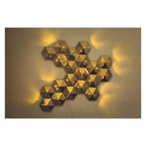 ł275 tessellate gold metal led decorative wall light buy