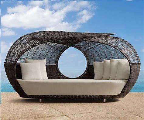 lit de jardin cocoon en resine tressee mobilier achat