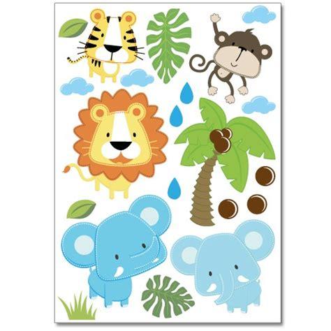 Wandtattoo Kinderzimmer Safari by Wandsticker Set A4 Baby Safari Tiere