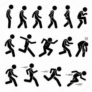 Various Human Man People Walking Running Runner Poses ...