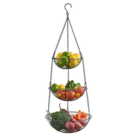 farmhouse 3 tier wire hanging basket regal trunk co