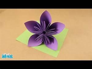 Fleur En Origami Facile : tutoriel origami fabriquer une fleur origami hellokids ~ Farleysfitness.com Idées de Décoration