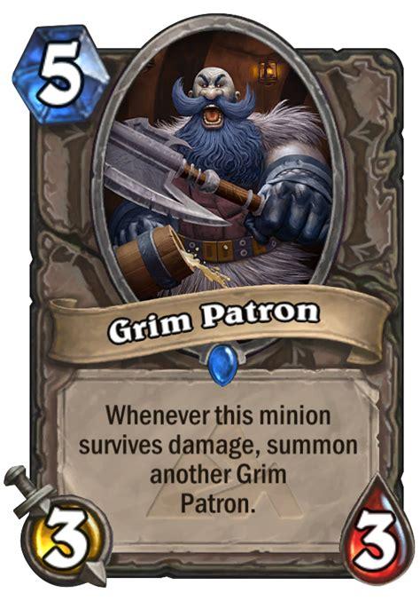 warrior deck hearthstone grim patron grim patron hearthstone card