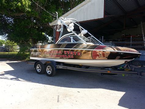 Sanger Boat Graphics by Signs Printing Logos Vehicle Wraps Okeechobee Florida