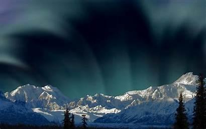Lights Aurora Wallpapers Polar Borealis Mountains Snowy