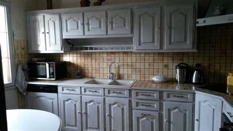 relooking cuisine relooking cuisine à ambloy avec un effet vieilli blanc et