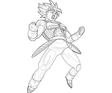 bardock coloring pages coloring home