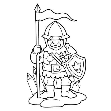 Kleurplaat Soldaten Met Geweer by Leuk Voor Soldaat Uit De Middeleeuwen