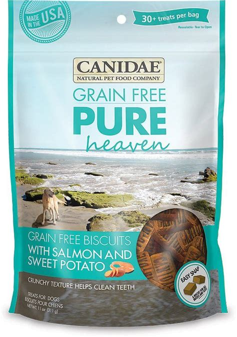 Buddy biscuits oven baked healthy dog treats, crunchy, whole grain and baked in the usa. CANIDAE Grain-Free PURE Heaven Biscuits with Salmon & Sweet Potato Crunchy Dog Treats, 11-oz bag ...