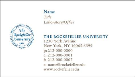 rockefeller university business stationery