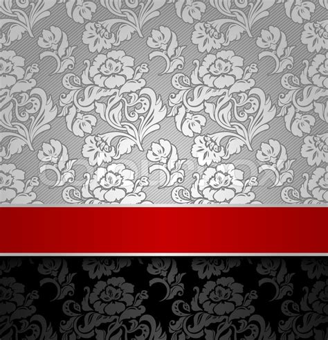 seamless decorative background silver with a ribbon stock vector colourbox