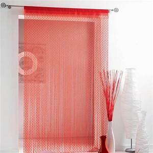 Fil Tringle Rideau : rideau de fil 140 x h240 cm maille rouge rideau et ~ Premium-room.com Idées de Décoration