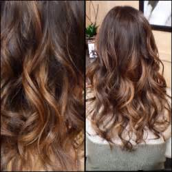 Balayage Ombre Highlights with Dark Brown Hair