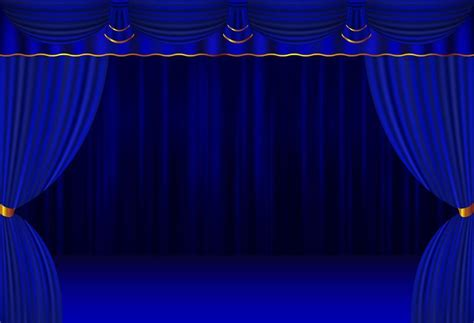 Background Stage Backdrop by Blue Curtain Stage Backdrop For Events Or Theater