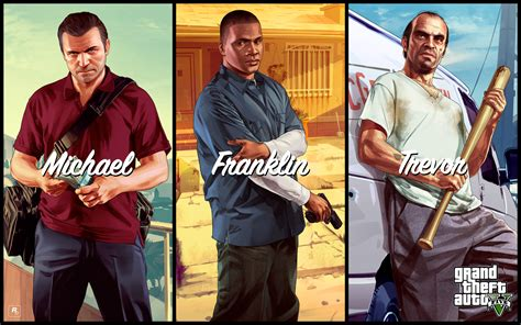 Michael. Franklin. Trevor. Artworks Released