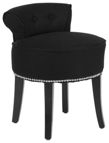 safavieh black vanity stool contemporary vanity stools and benches by overstock