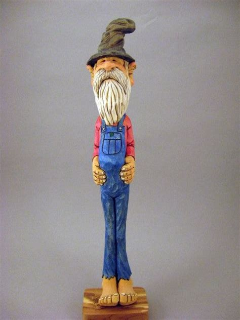 hand carved hillbilly caricature  carvingsbytony  etsy