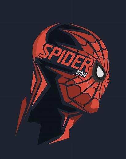Marvel Spider Background Comics Heroes Portrait 4k