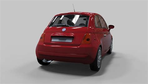 Fiat Model by Fiat 500 3d Model Max Obj Mtl Cgtrader