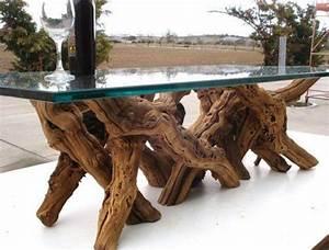tree trunk table with glass top o d e s i g n m e With tree stump coffee table with glass top