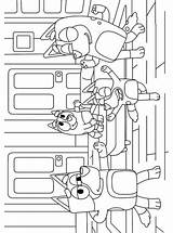 Bluey Coloring Pages Fun Votes sketch template