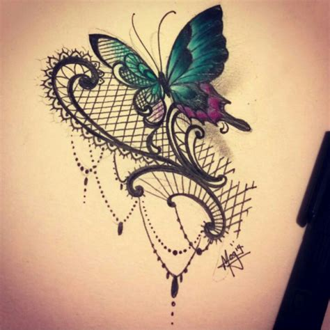 lace  butterfly tattoos tattoos lace tattoo