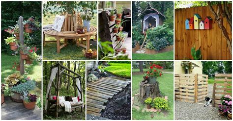 diy outdoor decorations bring some diy wooden whimsy into your yard