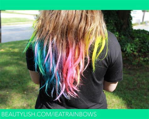 Rainbow Hair Tips Christen Ss Ieatrainbows Photo