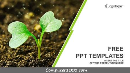 template powerpoint tema pertanian