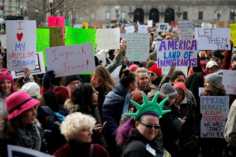 Tens Of Thousands Protest Trump's Immigration Ban Across