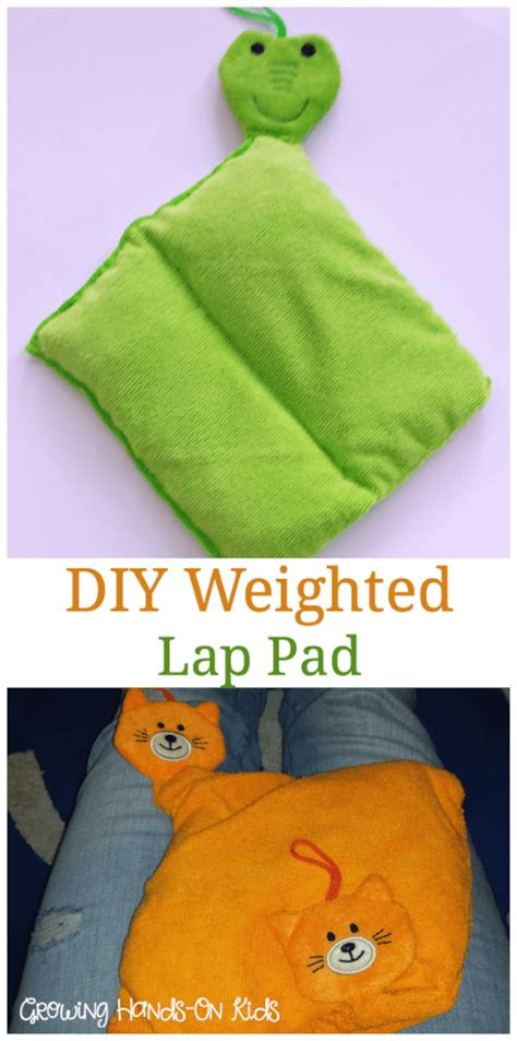 diy weighted lap pad