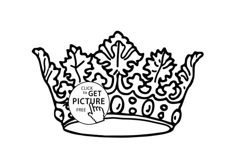 Nice Crown Coloring Page For Girls, Printable Free