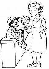 Coloring Community Helpers Pages Nurse Career Male Drawing Coloring4free Urban Sheets Printable Doctor Preschool Nurses Doctors Getcolorings Dentist Books Kindergarten sketch template