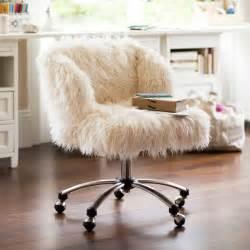 ivory furlicious wingback desk chair pbteen