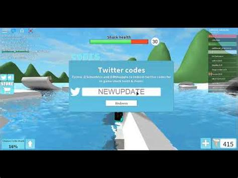 roblox sharkbite codes  october