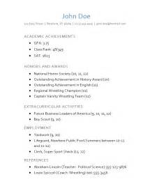 achievements for resume high school how to write a college admission r 233 sum 233