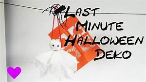 Deko Zum Selber Machen : halloween deko selber basteln anleitung diy geist gespenst tutorial how to youtube ~ Watch28wear.com Haus und Dekorationen