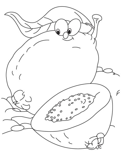 guava coloring page   guava coloring page