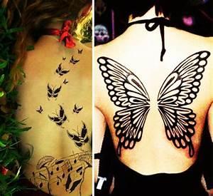 Tattoo Ideen Rücken : coole schmetterling tattoo ideen freshouse ~ Watch28wear.com Haus und Dekorationen